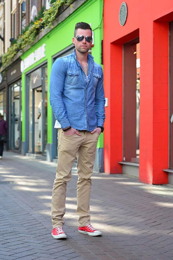 Mix giày converse nam cùng quần sáng màu 2