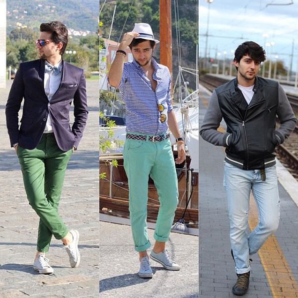 Mix giày converse nam cùng quần sáng màu 1