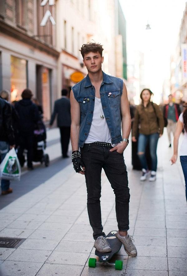 Mix đồ với giày converse Nam bằng áo Pull và quần jeans