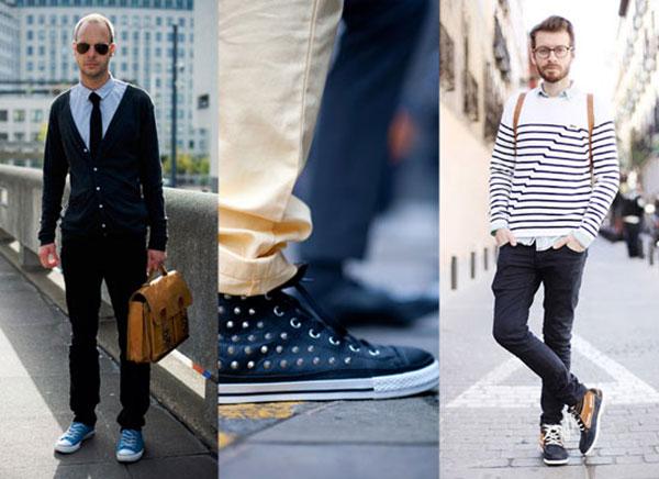Phối đồ với giày converse cho nam