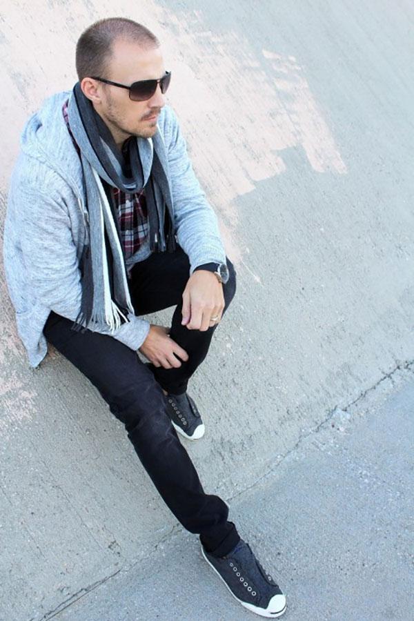 Cách phối đồ với giày converse nam kiểu layer sành điệu