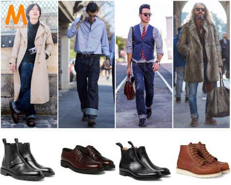 chọn giày phù hợp với quần jean nam thụng Bootcut