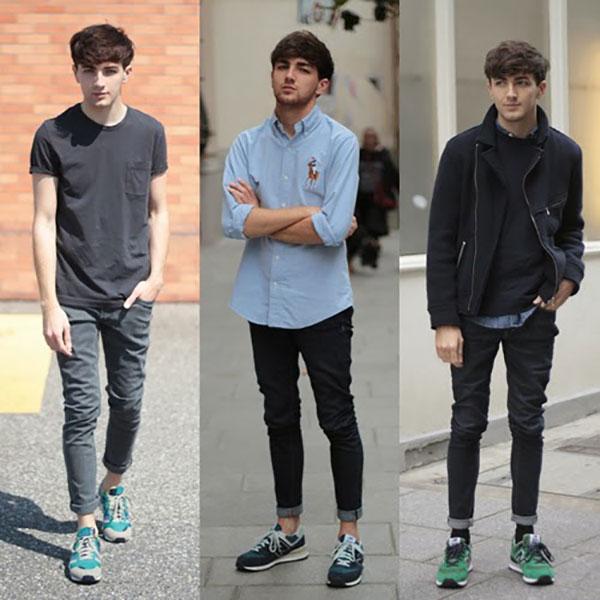 Cách phối giày thể thao Nam với quần jean