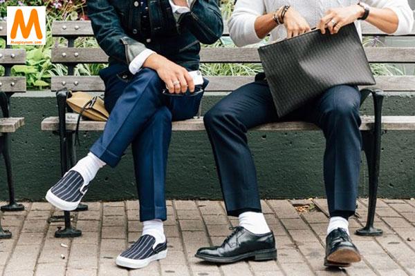 Khắc phục giày nam bị rộng bằng tất