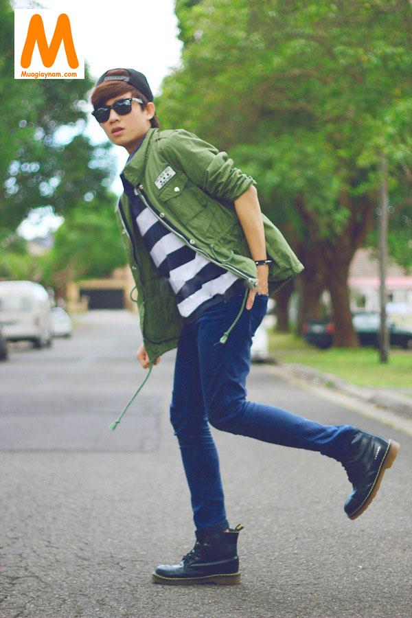 Cách phối đồ với giày cao cổ nam và quần jean