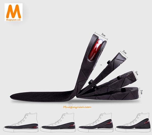 Sử dụng miếng lót giày nam bị rộng