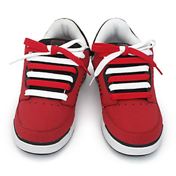 Kiểu thắt dây giày thẳng hai màu