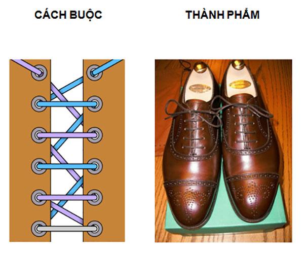 Buộc dây giày kiểu Châu Âu