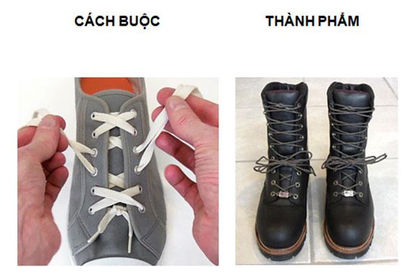 Buộc dây giày nhanh kiểu Corset