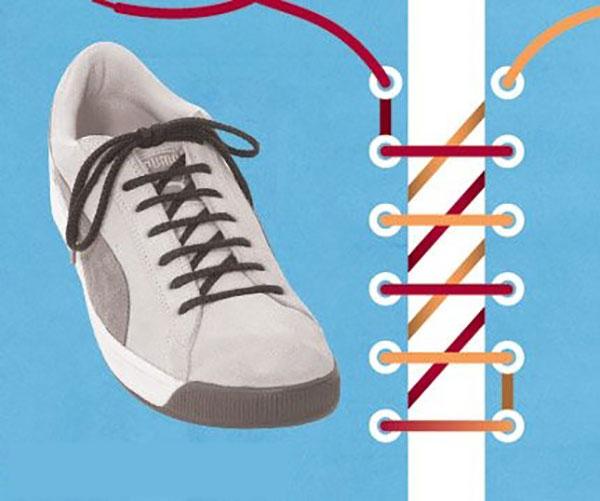 Thắt dây giày kiểu răng cưa
