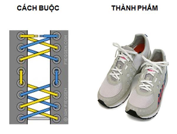 Cách buộc dây giày tạo lỗ hở