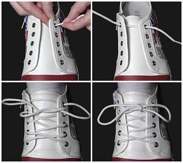 Cách thắt dây giày kiểu Ukraina