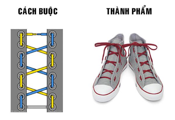 Buộc dây giày theo phong cách quân đội
