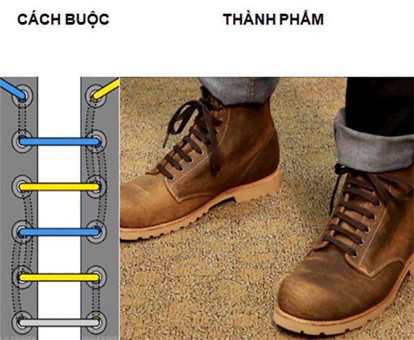 Cách buộc dây giày nhanh thẳng theo hàng