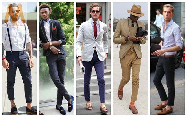 Phối đồ với giày lười nam phong cách công sở