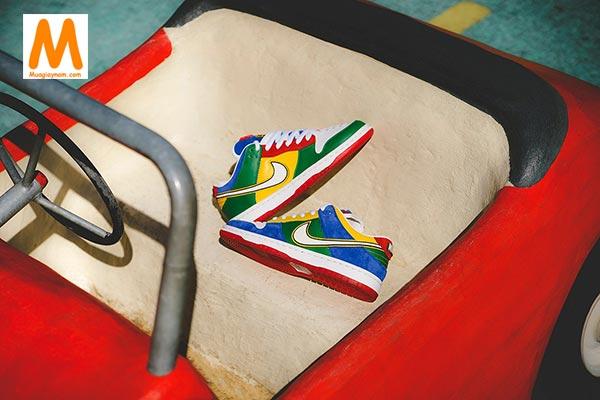 Nike SB Dunk Low LEGO đầy màu sắc - Ảnh 7