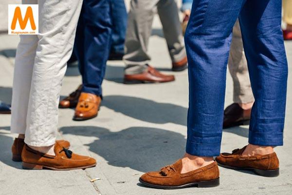 Kết hợp giày lười với quần tây nam